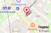 Схема проезда до компании Профилайт в Санкт-Петербурге