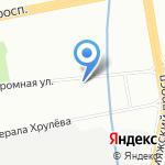 Мегастрой на карте Санкт-Петербурга