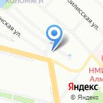 Цветочный базар на карте Санкт-Петербурга