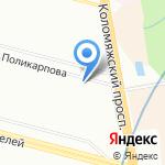 Петроокна на карте Санкт-Петербурга