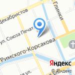 Индстайл на карте Санкт-Петербурга