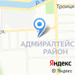 Радел на карте Санкт-Петербурга