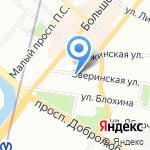 Ванбас на карте Санкт-Петербурга