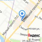 Петроградский на карте Санкт-Петербурга