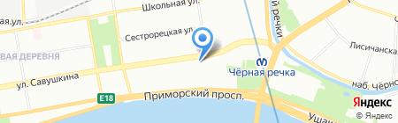 Администрация Приморского района на карте Санкт-Петербурга