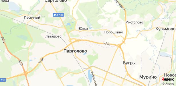 Порошкино на карте