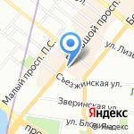 Пожарная часть №10 Петроградского района на карте Санкт-Петербурга