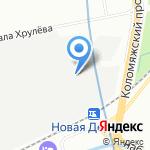Северный Металлоцентр на карте Санкт-Петербурга