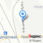 Автопарк №1 на карте Санкт-Петербурга