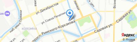 Ригонда на карте Санкт-Петербурга