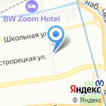 Белорусский гостинец на карте Санкт-Петербурга