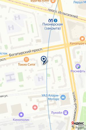СТРОИТЕЛЬНАЯ ФИРМА ЭЛЕКТРОНСТРОЙ-1 на карте Санкт-Петербурга