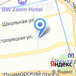 Карельский на карте Санкт-Петербурга