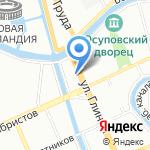Самоцветы на карте Санкт-Петербурга
