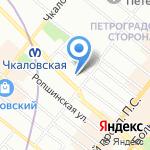 Удачная на карте Санкт-Петербурга