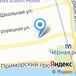 Невские Берега на карте Санкт-Петербурга