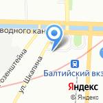 Посейдон на карте Санкт-Петербурга