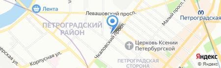 Меланж на карте Санкт-Петербурга