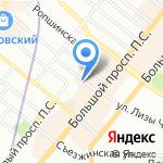 Отдел вневедомственной охраны при УВД Петроградского района на карте Санкт-Петербурга