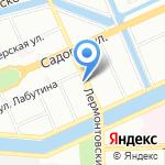 Гномик на карте Санкт-Петербурга