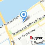 Территориальная организация Росхимпрофсоюза по г. Санкт-Петербургу и Ленинградской области на карте Санкт-Петербурга