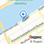 АЛЫЕ ПАРУСА САНКТ-ПЕТЕРБУРГ на карте Санкт-Петербурга