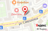 Схема проезда до компании Европромарматура в Санкт-Петербурге