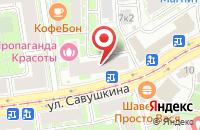 Схема проезда до компании Застава в Астрахани