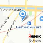 Малая Октябрьская железная дорога на карте Санкт-Петербурга