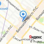Витим на карте Санкт-Петербурга