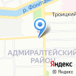 Палантин на карте Санкт-Петербурга