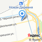 Фактория на карте Санкт-Петербурга