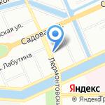 Уютный дом на карте Санкт-Петербурга