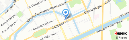 Элекснет на карте Санкт-Петербурга