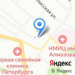 Церковь Святой Преподобномученицы Евгении на карте Санкт-Петербурга