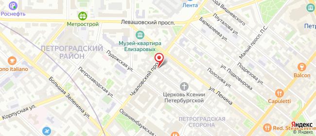 Карта расположения пункта доставки Билайн в городе Санкт-Петербург