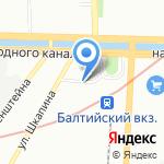 Назима на карте Санкт-Петербурга