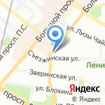 Шато де Вэссель на карте Санкт-Петербурга