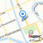 Школа Рока на карте Санкт-Петербурга
