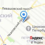 Aqua на карте Санкт-Петербурга