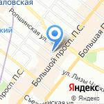 Городская кондитерская №1 на карте Санкт-Петербурга