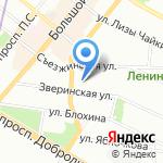 Администрация Петроградского района Санкт-Петербурга на карте Санкт-Петербурга