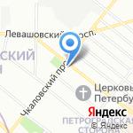 Айко-Петербург на карте Санкт-Петербурга