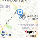 Молодежный консультативно-диагностический медицинский центр Петроградского района на карте Санкт-Петербурга