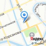 Брокант на карте Санкт-Петербурга