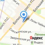 Мансарда художников на карте Санкт-Петербурга