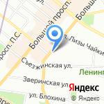Стекла мира на карте Санкт-Петербурга