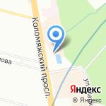 Забава на карте Санкт-Петербурга