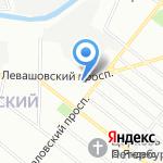 Школа №25 с дошкольным отделением на карте Санкт-Петербурга