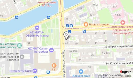 Спектр. Схема проезда в Санкт-Петербурге